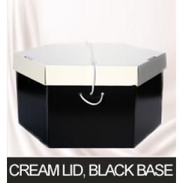 Cream Lid, Black Base Hatboxes