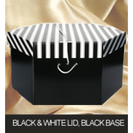 Black & White Lid, Black Base Hatboxes