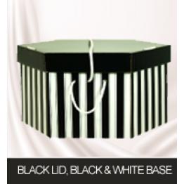 Black Lid, Black and White Base Hatboxes