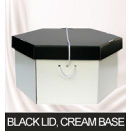 Black Lid, Cream Base Hatboxes