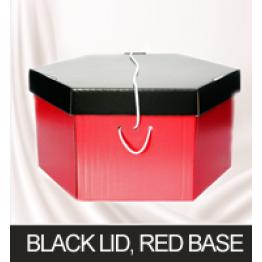 Black Lid, Red Base Hatboxes