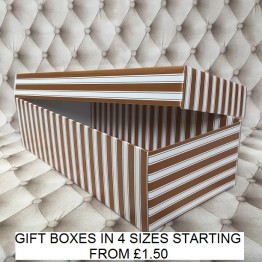 Flower Gift Box Gold and White