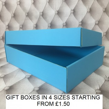 Large Gift Box Light Blue