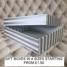 Large Gift Box Silver and White
