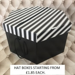 Black & White Lid, Black Base Hatboxes