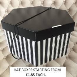 Black Lid, Black and White Base Hatboxes
