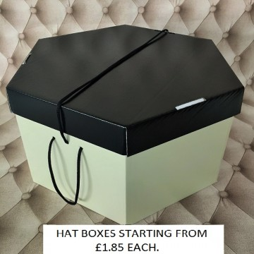 Black Lid, Cream Base Hatboxes