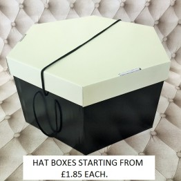 Cream Lid, Black Base Hatboxes