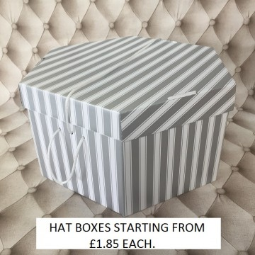 Silver and white Hatboxes